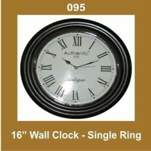 New Wall Clock 16'' Single Ring Nautical Roman Number ECs