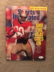JERRY RICE (San Francisco 49ers) signed Sports Illustrated magazine  ~  JSA/COA