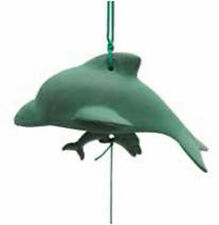 Japanese Wind chimes Green Dolphin Cast Iron Furin Bell/Made in Japan
