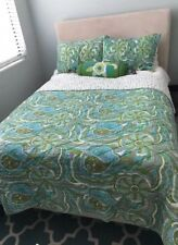 Full Size Reversible Coverlet bedspread with shams and decorative pillow