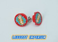 LEGO Custom Stud Earrings - Boom - minifig scale FREE POST