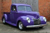 STUNNING ICONIC 1940 FORD DELUXE PICK UP, 350 V8 ENGINE, 350 AUTOMATIC GEARBOX,