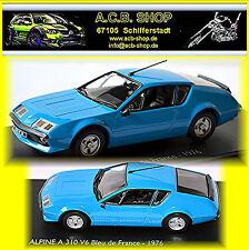 Renault Alpine A 310 V6 Bleu de France 1976-84 blue blue 1:43 Norev-Eligor