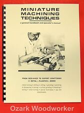 UNIMAT DB200 Miniature Machine Handbook & Techniques Operator's Manual 0728