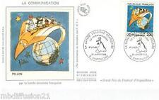 1988 - ENVELOPPE SOIE - FDC 1°JOUR - COMMUNICATION - PELLOS-BD - TIMBRE Yt.2503