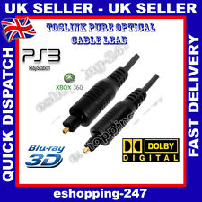 1.5M PURE OPTICAL TOS LINK DIGITAL CABLE TOSLINK FREE POSTAGE IN UK I124