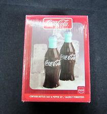 NIP Coca-Cola Band Salt & Pepper Shaker Set Contour Bottles