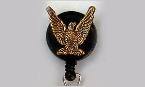 EAGLE Retractable Reel ID Card Badge Holder Key Ring Security Keychain
