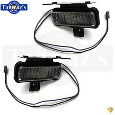 69 Chevelle SS Parking Turn Light Lamp Lens w/Trim & Housing & Wire Lead  - PAIR