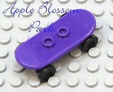 NEW Lego City Minifig PURPLE SKATEBOARD - Boy/Girl Minifigure Skate Board Toy