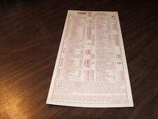 MARCH 1970 ATSF SANTA FE TRAIN #'S 23/24 SCHEDULE CARD
