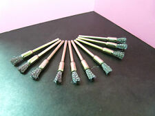 """50 pieces (1/8"""" inch) shank STEEL Wire brush Rotary PEN shape cups brushes tool"""
