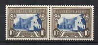 South Africa 1939 10s Groot Constantia horizontal pair 1 MNH and 1 MH