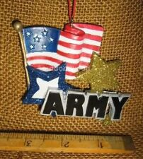 Cannon Falls Usa Military Army With Flag And Stars Christmas Ornament New