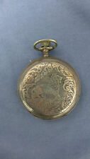 Russian Silver Roskopf Large Engraved Hunter Case  Pocket Watch