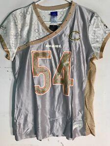 Reebok Women's NFL Jersey Chicago Bears Brian Urlacher Gold Flirt sz L