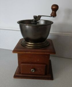 Vintage Wooden And Metal Tobacco Herb Spices Grinder And Storage