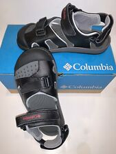 NEW! Columbia Boys Size Youth 1 Black Gray Sandal Shoes Splasher Gift! Nice
