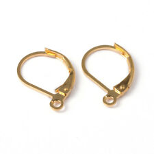 4 Leverback Earring Findings Gold Leverback Earring Wires Ear Wires Brass