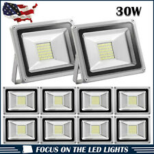 10 x 30W LED Flood Light Cool White Outdoor Security Garden Spot Lamp US Stock