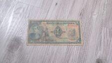 """Banque de colombie """" billet 1 peso Oro """" Colombia 1943"""