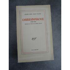 Edition originale André Gide Paul Valéry  Correspondance 1890 - 1942 . Paris, Ga