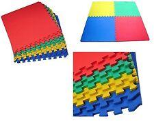 4pc Kids Children's Play Mat Multicolour Interlocking Eva Mat Puzzle Floor Tiles
