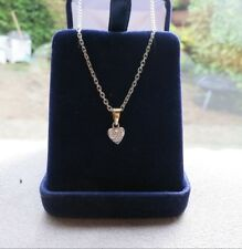Tour de cou coeur /   necklace in yellow and white 18K gold