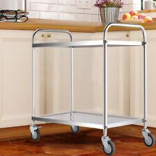More details for kitchen trolley rack fruit vegetable holder storage shelf catering serving cart