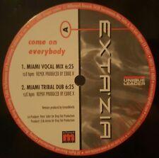 """Exta'zia - Come On Everybody 12"""" VInyl Record"""