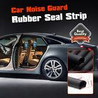 D-Shape Rubber Edge Trim Car Door Trunk Seal Strip Noise Weatherstrip 9mm 2M 7ft