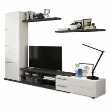 Parete attrezzata Cordova bianco e grigio mobile TV soggiorno sala da pranzo