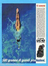 QUATTROR992-PUBBLICITA'/ADVERTISING-1992- CANON - UC10 8mm VIDEO CAMCORDER