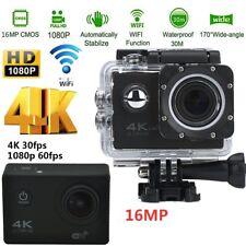 """2"""" 4K 16MP FULL HD 1080p WIFI SPORT ACTION KAMERA CAM WASSERDICHT AS GO PRO DHL"""