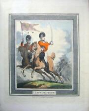 Gravures Napoléoniennes cavalerie Sabre Perceuses Rowlandson gauche protéger 1799