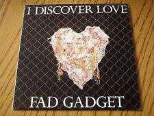 """FAD GADGET - I DISCOVER LOVE     7"""" VINYL PS"""