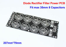 Four Bridge Diode Rectifier Filter Power Supply Board PCB fit 35mm 8x Capacitor