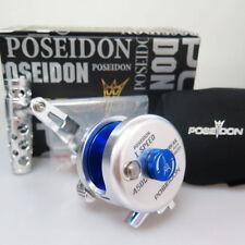 POSEIDON 450L Slow Jigging REEL Left Handle BIG GAME Sil/BL Fedex 2days to Usa