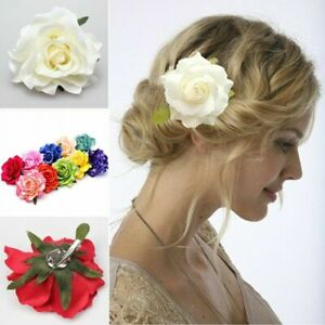 Rose Flower Corsage Hair Clip Flamenco Dancer Pin up Flower Brooch free shipping