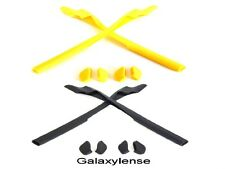 Galaxy Earsocks & Nose Pads For Oakley Half Jacket 2.0 / 2.0 XL Black/Gold 2Pair