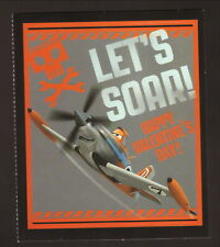 Disney Planes--Dusty Crophopper--Let's Soar--Valentines Day Card--