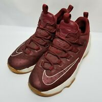 """C2 Nike Lebron 13 Low-""""Team Red/Gum"""" 834347-600 Basketball Shoes Sz 6.5 Youth"""