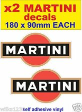 x2 Martini rally stickers race car motorcycle decals honda moto gp classic bike