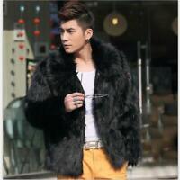 Mens Casual Winter Faux Fur Coat Jacket Overcoat Warm Outwear Loose Fit Fashion