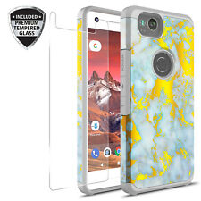 For Google Pixel 2 Graphic Fashion Case W/ Tempered Glass Screen Protector