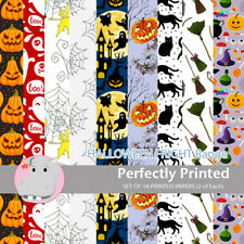 18 Patterned Paper Sq 140mm -Perfectly Printed Craft Paper - Halloween Fright