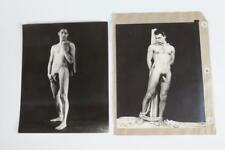 FOUR PHOTOGRAPHS OF NUDE MEN, GAY INTEREST, circa 1960. - Each, 10 in... Lot 872