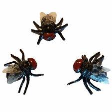 3 Fliegen aus Kunststoff Scherzartikel Prank Scherz Gag Schmeißfliege Bremse Fly
