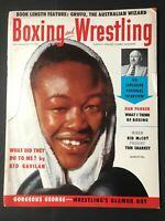 BOXING & WRESTLING Magazine - March 1955 - GEORGE FOREMAN / Kid Gavilan