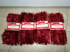 lot of 4 pieces holiday time tinsel garland 15 ft. each total 60 ft.